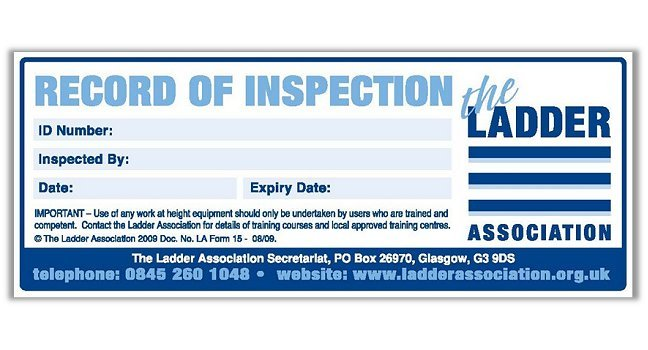 record of inspection